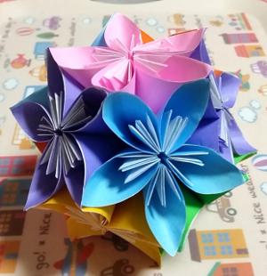 ハート 折り紙 折り紙で作る七夕飾り くす玉 : tikitiki-life.com